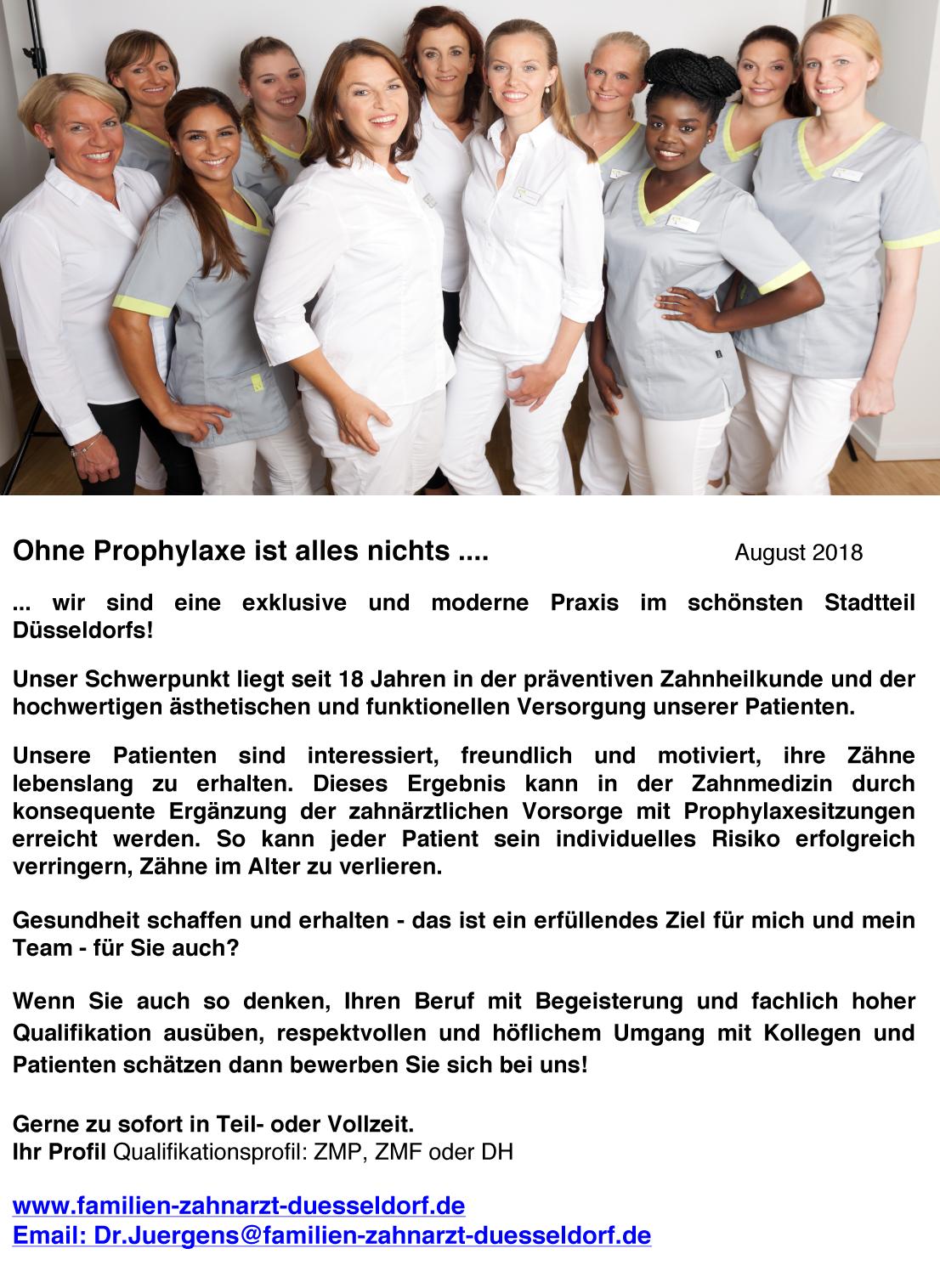 Stellenanzeige Dr Beate-Jürgens & Partner, Düsseldorf