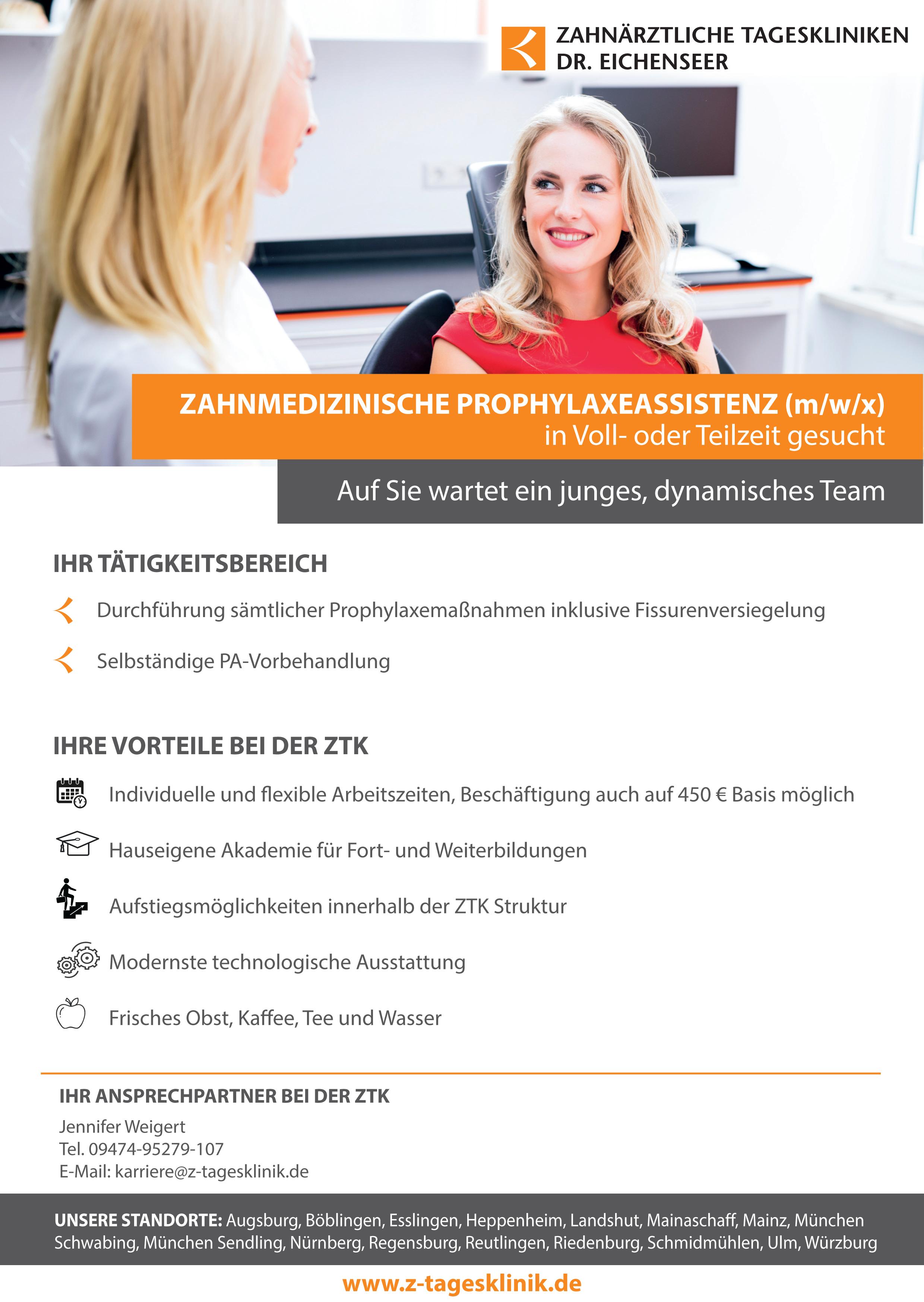 Stellenangebot DH Zahnaerztliche-Tageskliniken-Dr-Eichenseer